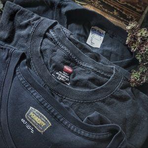 Other - Bundle of three 4XLT black t-shirts